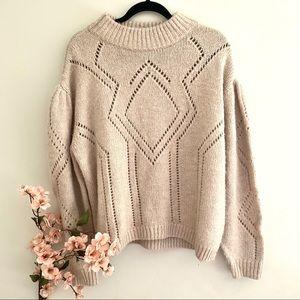 🌸host pick🌸HM alpaca wool blend openknit sweater